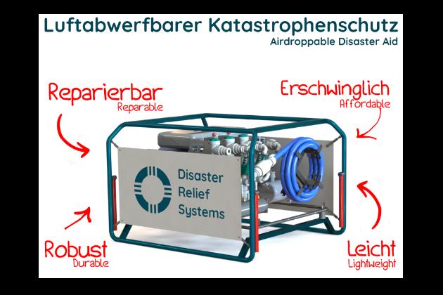 Drop It | Luftabwerfbare Trinkwasseraufbereitungsanlagen