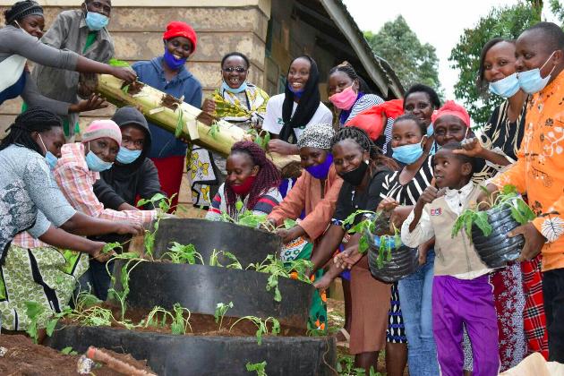Gemüsegarten zur Versorgung von 15 Familien in Kenia