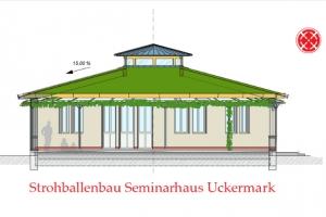 Rundes Strohballenhaus