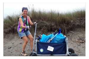 Atlantic beach clean-up with a laughter 2020