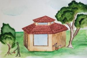 STROHGON – Sechseckiges Strohballenhaus als Selbstbau